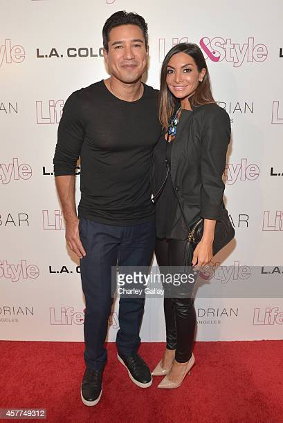 Tv Personality Mario Lopez and wife Courtney Mazza attend Life Style Weekly's 10 Year Anniversary party at SkyBar at the Mondrian Los Angeles on...