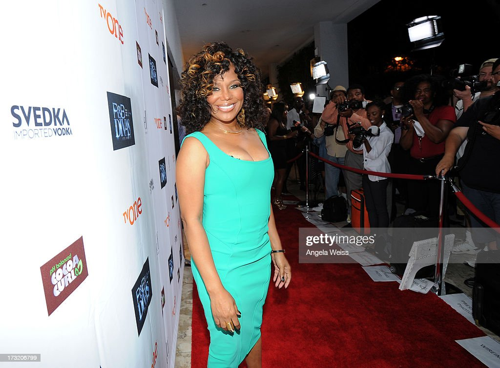Tv Personality Michel'le attends attends the 'R&B Divas LA' premiere event at The London on July 9, 2013 in West Hollywood, California.