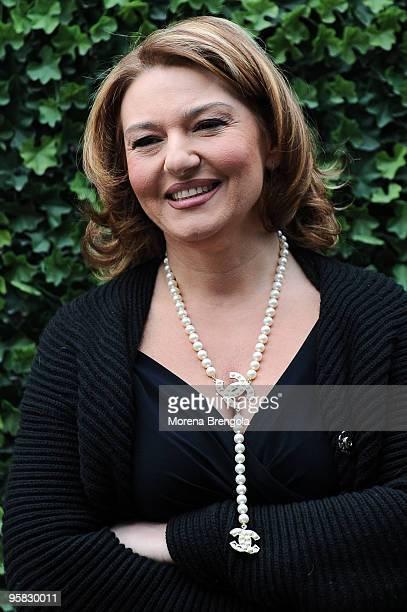 Tv personality Monica Setta during 'Quelli Che Il Calcio' Italian TV Show on January 17 2010 in Milan Italy