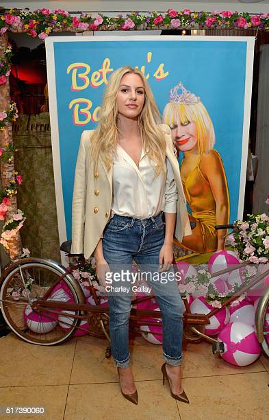 Tv personality Morgan Stewart attends Betsey Johnson's Pool Party at Sunset Tower Hotel on March 24 2016 in West Hollywood California