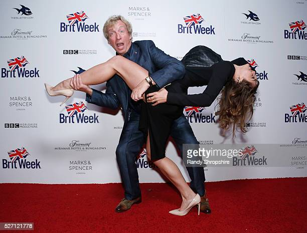 Tv personality Nigel Lythgoe and actress Angela Vitale attend BritWeek's 10th Anniversary VIP Reception Gala at Fairmont Hotel on May 1 2016 in Los...