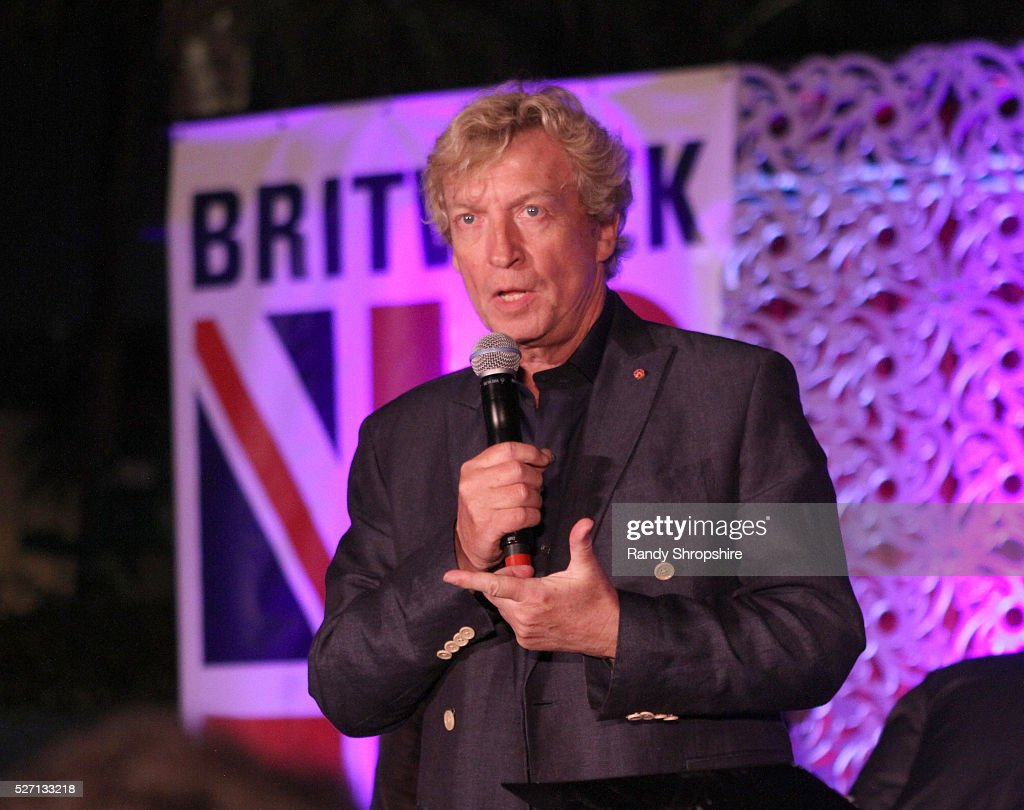 Tv personality Nigel Lythgoe speaks onstage during BritWeek's 10th Anniversary VIP Reception & Gala at Fairmont Hotel on May 1, 2016 in Los Angeles, California.