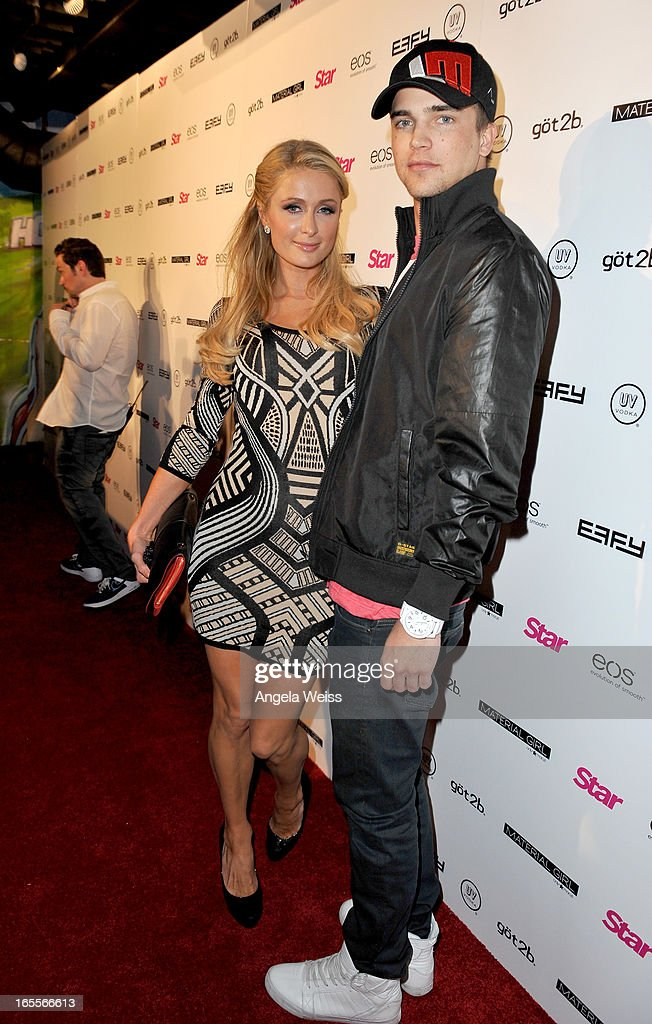 Tv personality Paris Hilton (L) and model River Viiperi attend Star Magazine's Hollywood Rocks event held at Playhouse Hollywood on April 4, 2013 in Los Angeles, California.