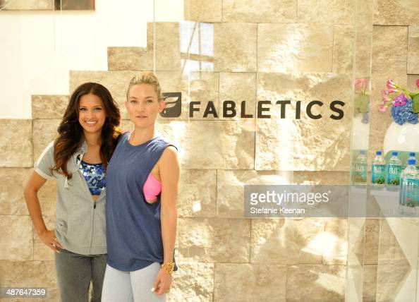 Tv personality Rocsi Diaz and Kate Hudson attend Kate Hudson celebrates the Fabletics Spring Collection on May 1 2014 in Los Angeles California