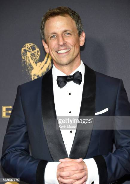 Tv personality Seth Meyers attends the 69th Annual Primetime Emmy Awards at Microsoft Theater on September 17 2017 in Los Angeles California