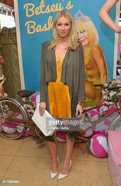 Tv personality Stassi Schroeder attends Betsey Johnson's Pool Party at Sunset Tower Hotel on March 24 2016 in West Hollywood California