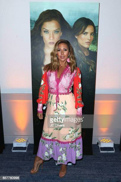 Tv personality Stephanie Himonidis AKA 'Chiquibaby' attends the Screening Of Telemundo's 'Senora Acero' at The Line Hotel on October 4 2017 in Los...