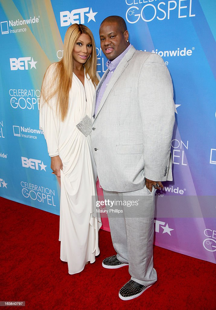 Tv personality Tamar Braxton (L) and songwriter Vincent Herbert attend the BET Celebration of Gospel 2013 at Orpheum Theatre on March 16, 2013 in Los Angeles, California.