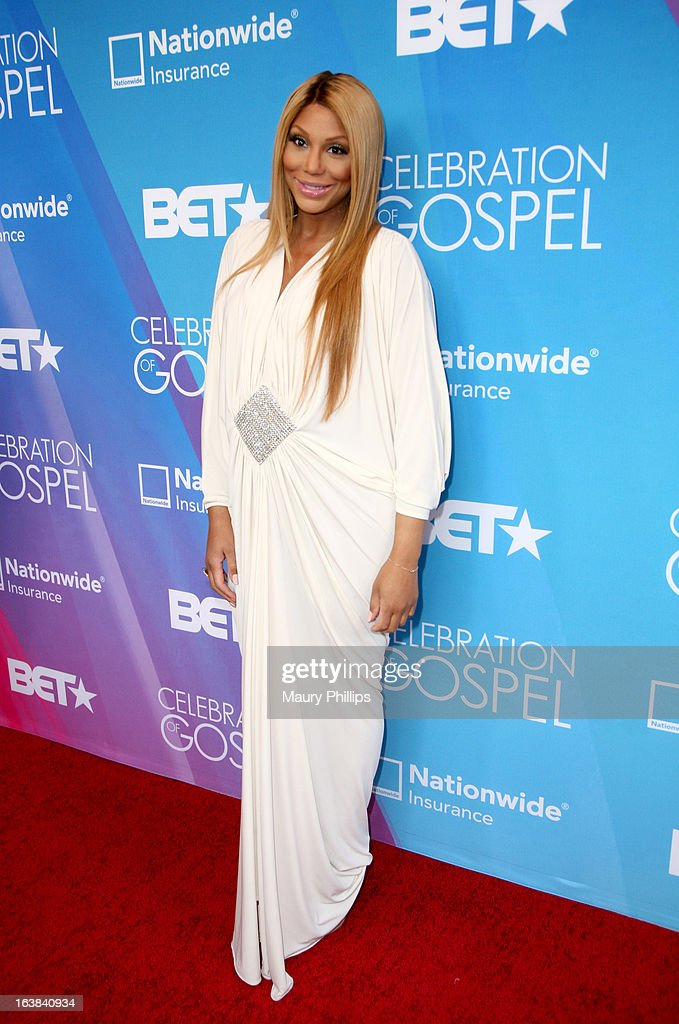 Tv personality Tamar Braxton attends the BET Celebration of Gospel 2013 at Orpheum Theatre on March 16, 2013 in Los Angeles, California.