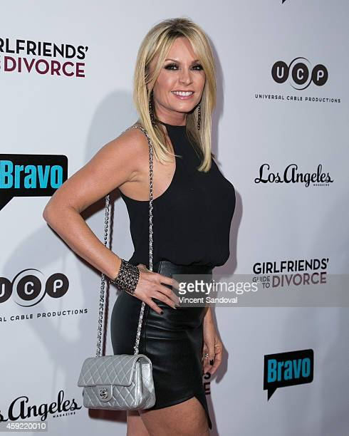 Tv personality Tamra Judge attends Bravo's Los Angeles premiere of 'Girlfriends Guide To Divorce' at Ace Hotel on November 18 2014 in Los Angeles...