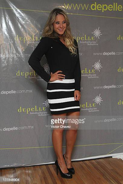 Tv personality Vanessa Huppenkothen attends the opening of the Depelle Masaryk Store on June 23 2010 in Mexico City Mexico