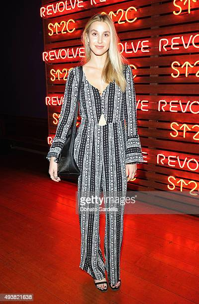 Tv personality Whitney Port attends the REVOLVE fashion show benefiting Stand Up To Cancer on October 22 2015 in Los Angeles California