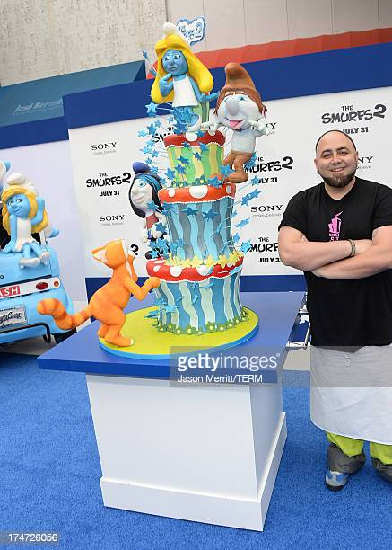Tv personality/chef Duff Goldman attends the premiere of Columbia Pictures' 'Smurfs 2' at Regency Village Theatre on July 28 2013 in Westwood...