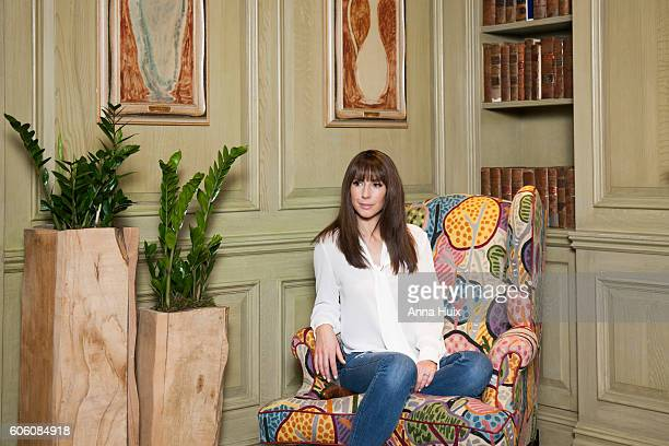 Tv presenter Alex Jones is photographed for the Telegraph on March 22 2016 in London England