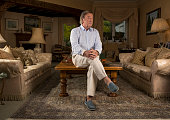Tv presenter and broadcaster Terry Wogan is photographed for the Observer on September 2 2014 in London England