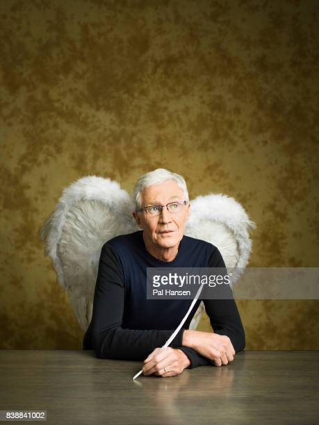 Tv presenter and comedian Paul O'Grady is photographed for the Observer on May 2 2017 in London England
