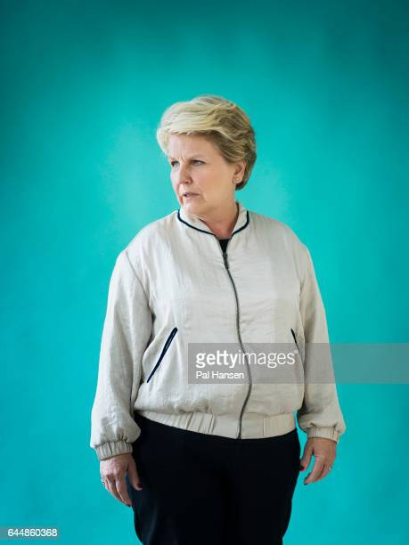 Tv presenter and comedian Sandi Toksvig is photographed for Psychologies on September 2 2016 in London England