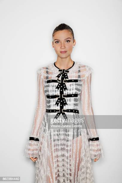Tv presenter and fashion model Fiammetta Cicogna poses for a portrait during amfAR Gala Milano on September 21 2017 in Milan Italy