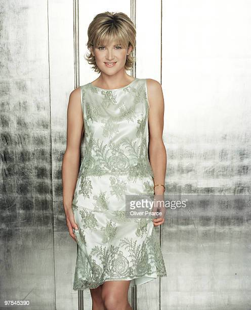 Tv presenter Anthea Turner poses for a portrait shoot in London on April 8 2002