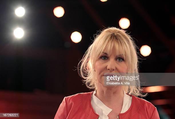 Tv presenter Antonella Clerici attends 'La Terra dei Cuochi' TV Show photocall at Dear RAI Studios on April 23 2013 in Rome Italy