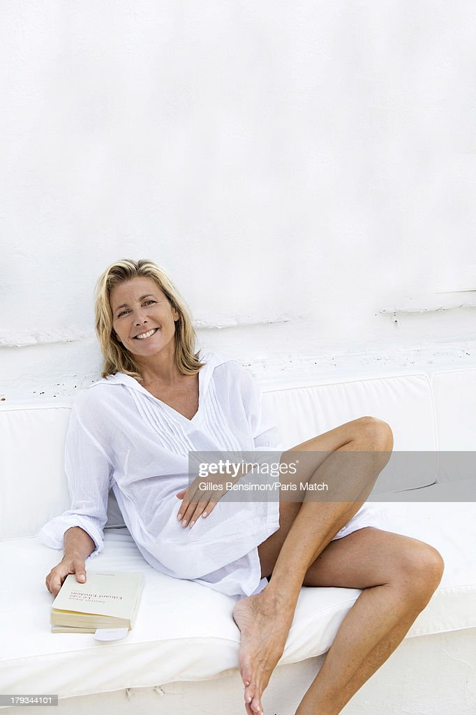 Tv presenter <a gi-track='captionPersonalityLinkClicked' href=/galleries/search?phrase=Claire+Chazal&family=editorial&specificpeople=240566 ng-click='$event.stopPropagation()'>Claire Chazal</a> is photographed on the Greek island of Paxos for Paris Match on August 16, 2013 in Paxos, Greece.