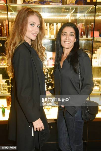 Tv presenter Cyrielle Joelle and actress Fatima Adoum attend 'Nuit Jovoy Rose Millesimee' at Jovoy Store on September 18 2017 in Paris France