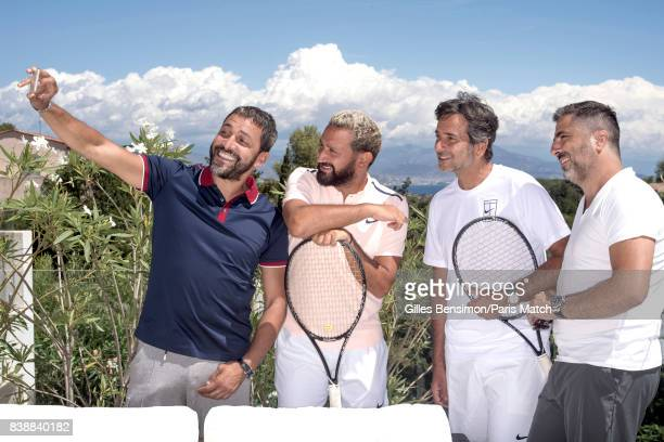 Tv presenter Cyril Hanouna is photographed whilst on holiday for Paris Match on August 11 2017 in Cannes France