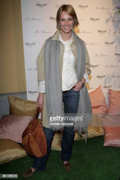 Tv presenter Ellen Hidding attends Blugirl flagship store opening during Milan Fashion Week Womenswear Autumn/Winter 2009 on February 26 2009 in...