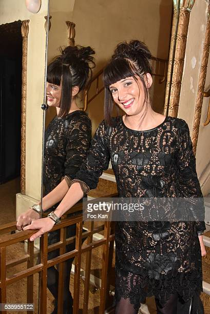 Tv presenter Erika Moulet attends 'Les Gerard De La Television 2016' Awards Ceremony At Theatre Daunou on May 30 2016 in Paris France