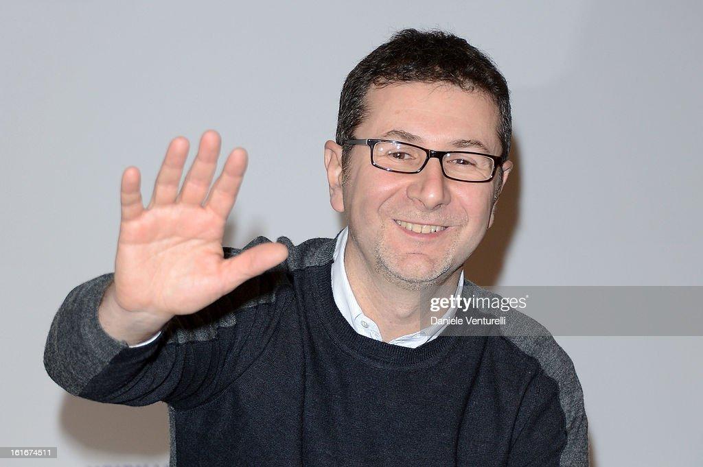 Tv presenter Fabio Fazio attends the Day 3 Photocall during 63th Festival di Sanremo 2013 on February 14, 2013 in Sanremo, Italy.