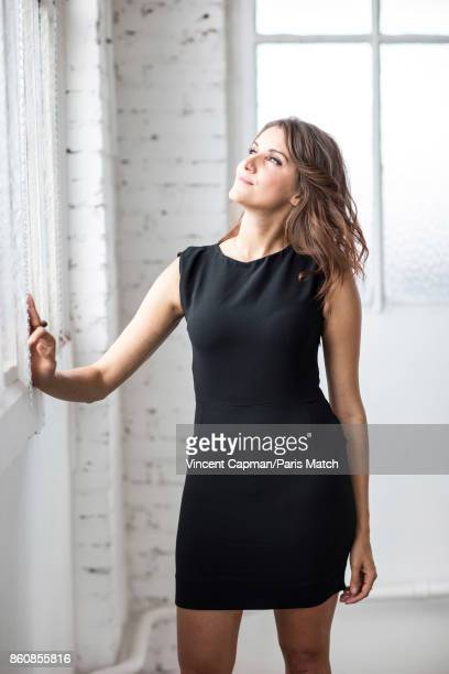 Tv presenter Fanny Agostini is photographed for Paris Match on September 19 2017 in Paris France