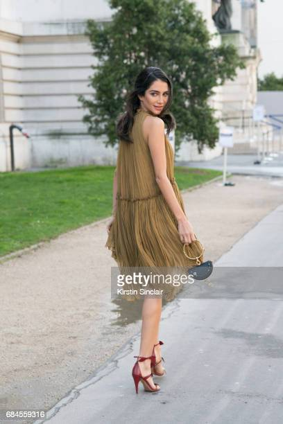 Tv Presenter Jessica Kahawaty wears all Chloe on day 3 during Paris Fashion Week Autumn/Winter 2017/18 on March 2 2017 in Paris France Jessica...