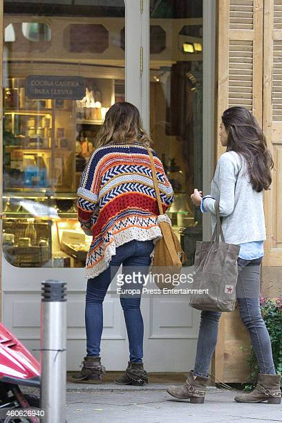Tv presenter Marilo Montero and her daughter Rocio Herrera are seen is seen on December 15 2014 in Madrid Spain