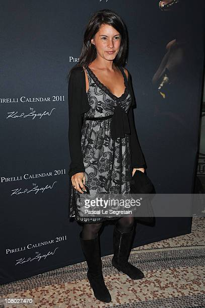 Tv Presenter Marion Jolles attends the Pirelli 2011 Calendar launch at Le Mini Palais on January 13 2011 in Paris France