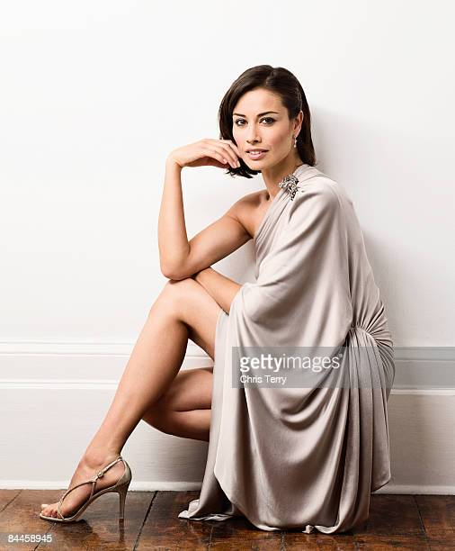 Tv presenter Melanie Sykes poses for a portrait shoot for the S Express magazine in London on August 14 2008