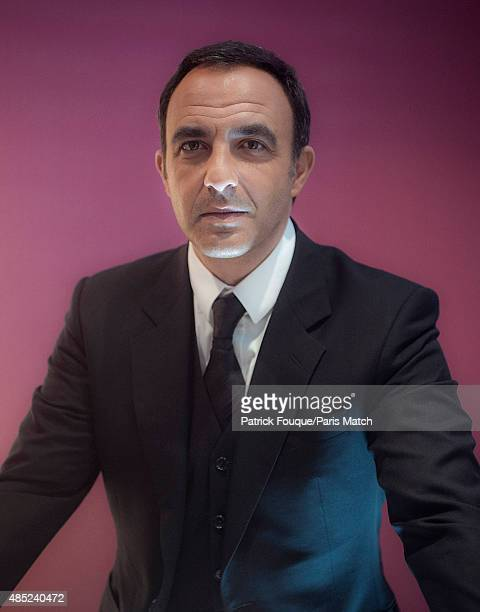Tv presenter Nikos Aliagas is photographed for Paris Match on January 10 2013 in Paris France