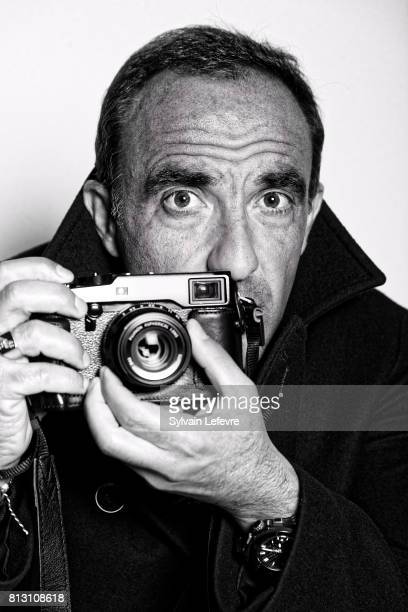 Tv presenter Nikos Aliagas is photographed for Self Assignment on April 21 2017 in Lille France