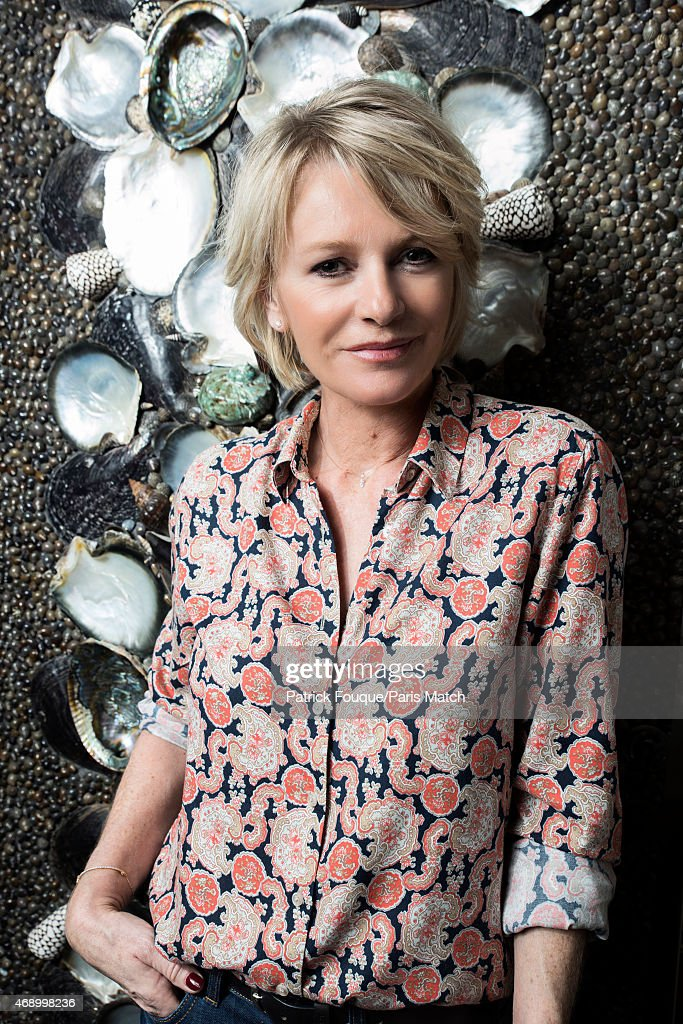 Tv presenter Sophie Davant is photographed for Paris Match on March 3, 2015 in Paris, France.