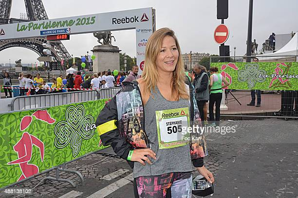 Tv presenter Stephanie Loire attends 'La Parisienne 2015' Women Auction race Against Breast Cancer Hosted by Reebok At Esplanade Bassin Du Trocadero...