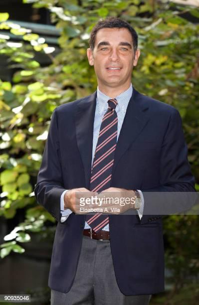Tv presenter Tiberio Timperi attends 'Mattina In Famiglia' photocall at RAI Viale Mazzini on September 18 2009 in Rome Italy