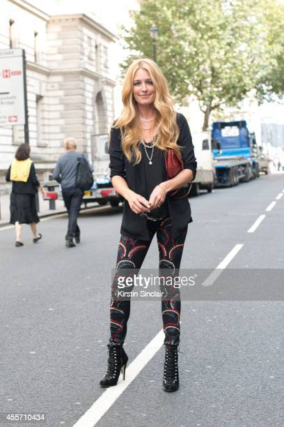 Tv Presenters Cat Deeley on day 3 of London Collections Women on September 14 2014 in London England