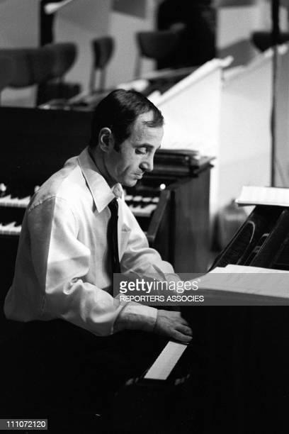 Tv Show 'Palmares De La Chanson' Charles Aznavour In France On March 10 1966