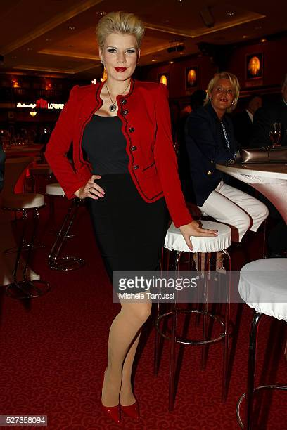 Tv starlet Melanie Mueller poses at the Eagles Charity Golf Cup event night at the Europa park on May 2 2016 in Rust Germany