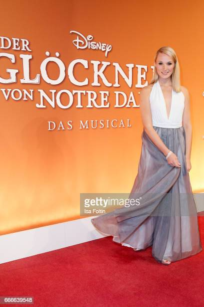 Bachelorette Anna Hofbauer attends the premiere of the musical 'Der Gloeckner von Notre Dame' on April 9 2017 in Berlin Germany