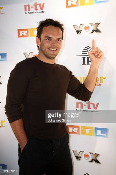 TVcook Stefan Henssler arrives for the Primetime Nightclub event on August 2 2007 in Munich Germany