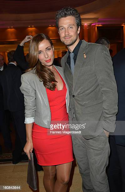 TVhost Annemarie Warnkroos and actor Wayne Carpendale attend the Best Brands 2013 Gala at Bayerischer Hof on February 6 2013 in Munich Germany