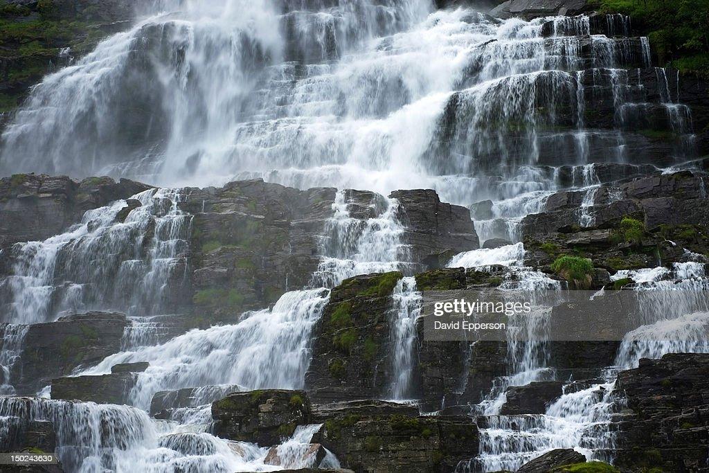 Tvinnefossen Waterfall near Voss, Norway : Stock Photo