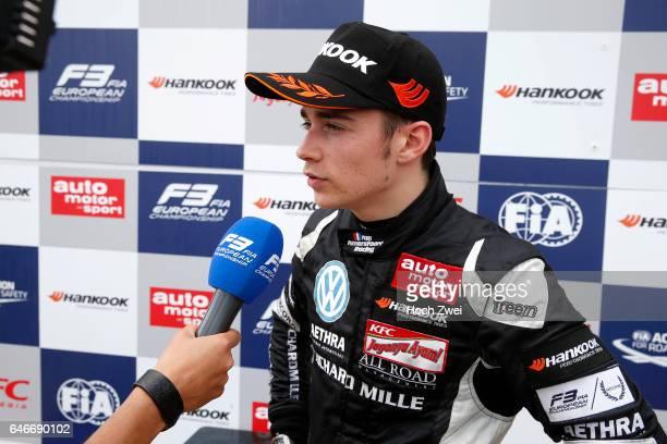 TVInterview 7 Charles Leclerc FIA Formula 3 European Championship round 3 race 3 Pau 15 17 May 2015