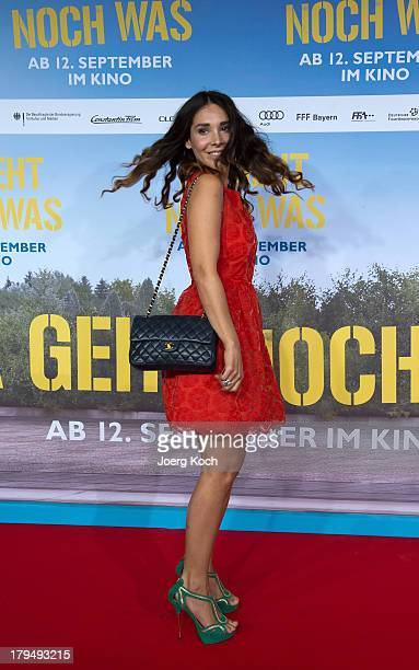 TVmoderator Sandra Ahrabian poses at the 'Da geht noch was' Germany premiere at Mathaeser on September 4 2013 in Munich Germany