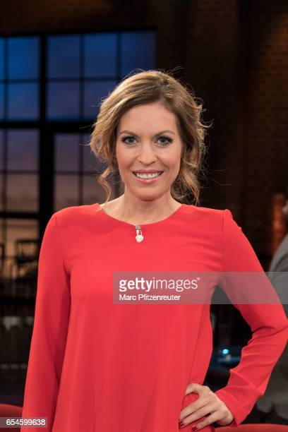 TVpresenter Jule Goelsdorf attends the 'Koelner Treff' TV Show at the WDR Studio on March 17 2017 in Cologne Germany
